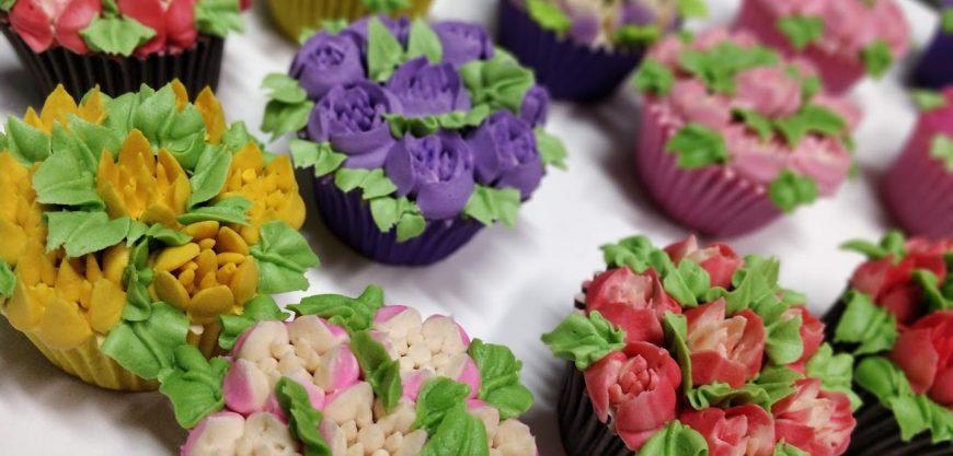 Cupcakes Personalizados de Flores